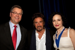 Honorees Michael J. Stengel, Al Pacino and Bebe Neuwirth
