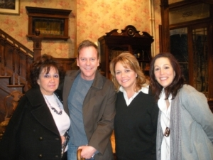 Kiefer Sutherland and auction winners