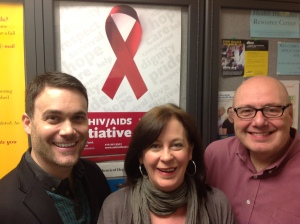 In our New York Office, l-r: Thomas Lorio, L.M.S.W.; Marjorie Roop, L.C.S.W.; and Supervisor of The Fund's HIV/AIDS Initiative Kenton Curtis L.C.S.W..