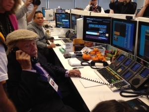 Jerry Stiller working the phones at Bloomberg LP in support of The Actors Fund!
