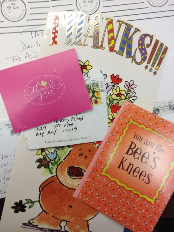 A few of the thank you notes we've received from those in our community helped post-Sandy!