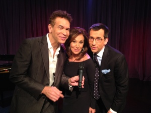 Brian Stokes Mitchell with Good Day NY's Rosanna Scotto and Dave Price.