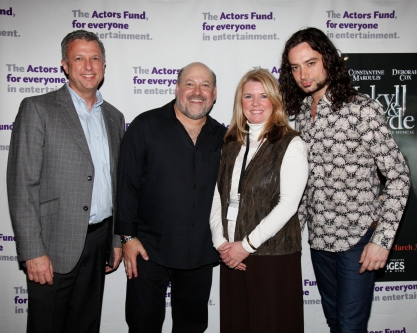 Actors Fund Western Region Director Keith McNutt, Frank Wildhorn, _____ and Constantine Marguolis.