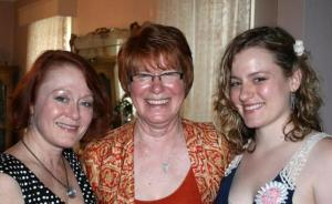 Caroline's mother Donna, her grandmother Joyce & Caroline.